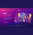 holi festival concept vector image vector image