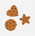homemade chocolate chip cookie oatmeal cookies vector image