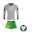 isolated soccer uniform vector image vector image