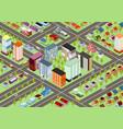 isometric cartoon city vector image