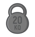 kettlebell filled outline icon fitness and sport vector image vector image