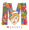 letter M mystery vector image vector image