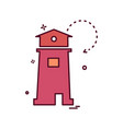 light house icon design vector image