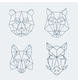 Low poly animals Bear and wolf fox or wild boar vector image vector image