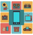 Many functions carries a modern mobile phone vector image vector image