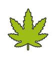 marijuana leaf color icon vector image