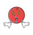 money eye bowling ball character cartoon vector image vector image