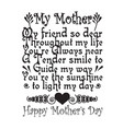mother day quote good for print my mother my vector image vector image