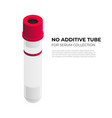 no additine tube vacutainer for serum collection vector image vector image