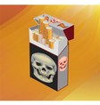 No Smoking cigarette skull on cigarettes vector image vector image