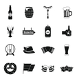 Oktoberfest icons set simple style vector image vector image