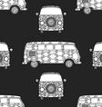 Pattern of Vintage car vector image vector image