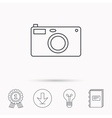 Photo camera icon Photographer equipment sign vector image vector image