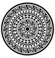 polynesian geometric mandala pattern vector image vector image