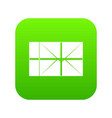 postal parcel icon digital green vector image