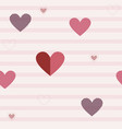 seamless pattern with different hearts vector image vector image