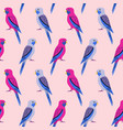 seamless pattern with rosella parrots vector image