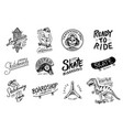 set skateboarding labels logo vector image