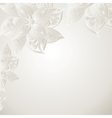 Silver background with floral ornament vector image vector image