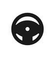 steering wheel icon black car wheel icon in flat vector image