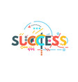 success text banner vector image vector image