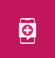 telemedicine icon with smart phone vector image vector image