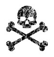the skull and crossbones scratched pirates vector image