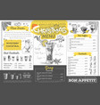 vintage christmas menu design restaurant menu vector image vector image