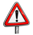 warning sign design concept vector image