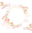 watercolor pink bougainvillea on pink splash vector image vector image