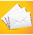 Group envelopes set of envelopes vector image
