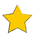 yellow star award winner favorite icon vector image