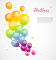 balloons color vector image
