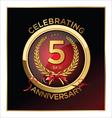 5 years anniversary label vector image