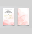 abstract dusty blush liquid watercolor background vector image vector image