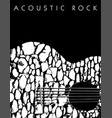 an acoustic rock music background vector image