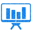 Bar Chart Monitoring Board Grainy Texture Icon vector image vector image