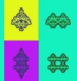 batik mulia vector image vector image