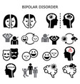 bipolar disorder icons - mental health conc vector image