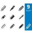 black pencil icons set vector image vector image