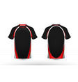 black white and red layout e-sport t-shirt design vector image vector image