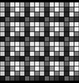 black white mosaic seamless pattern background vector image