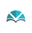 book abstract knowledge logo vector image vector image