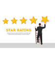 businessman giving five star rating poster vector image