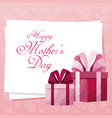 card happy mothers day gift boxes cute vector image vector image