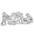 cartoon halloween children in vector image vector image