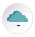 Cloud storage icon flat style vector image