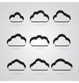 collection of grey clouds vector image vector image