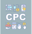 cpc word concepts banner vector image vector image