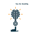 Creativity Brain Opening Concept vector image